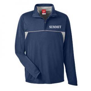 Team 365 Men's Excel Mélange Interlock Performance Quarter-Zip Top
