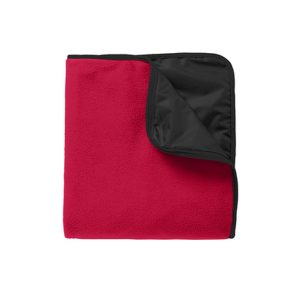 Port Authority® Fleece & Poly Travel Blanket EMBROIDERED