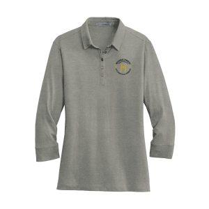 Port Authority® Ladies 3/4-Sleeve Meridian Cotton Blend Polo