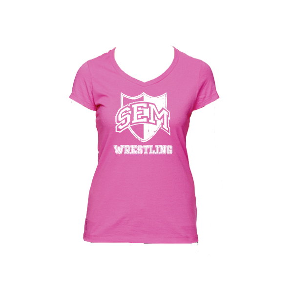 55233b489 Champion for Team 365 Vapor® Ladies' Cotton Short-Sleeve V-Neck ...