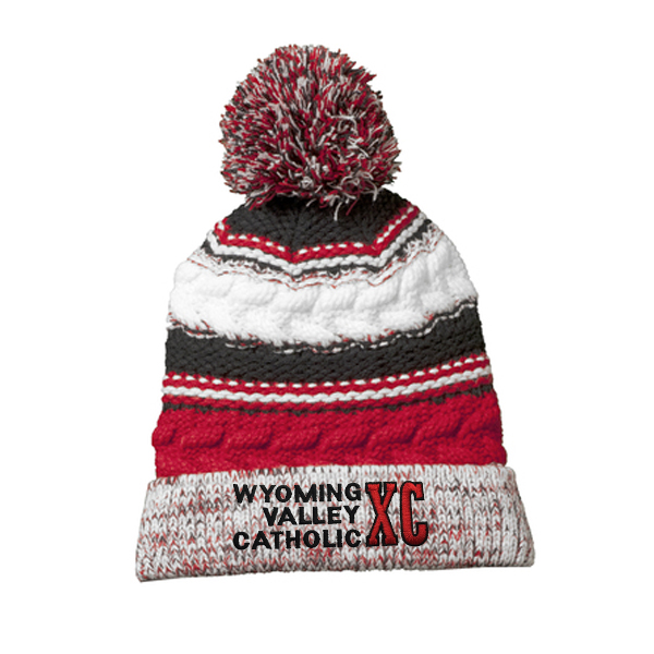 Sport-Tek® Pom Pom Team Beanie – Wyoming Valley Catholic Cross Country 0c195ff00d82